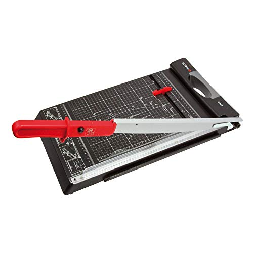 Olympia G 4410 Papierschneider (mit Schneidelineal, DIN A3, 10 Blatt, Positionierhilfe, Stabiler Fotoschneider mit Papierauflage, Papierschneidegerät mit Schneidschutz fürs Büro)