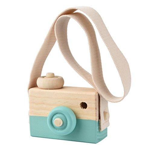 BZLine® Holzspielzeug Kamera Kinder Kreative Hals Hängenden Seil Spielzeug (Grün) (Baby-kamera-spielzeug)