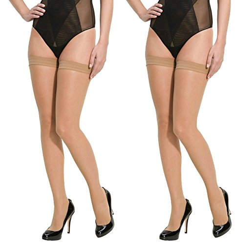 Lady Heart Anfanna Sheer Panty Hose / Stockings Skin Long Stockings ( Pack of 2 )
