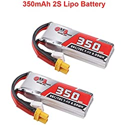 2 unids GAONENG 350mAh 2S HV Lipo Batería 80C 7.6V con Enchufe XT30 para 2S Whoop Drone Beta75X Drone sin Escobillas