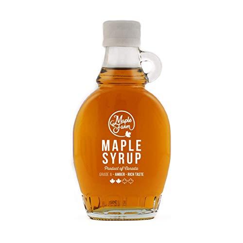 Maplefarm - puro sciroppo d'acero canadese grado a (amber, rich taste) - bottiglia 189 ml (250 g) - pure maple syrup - puro succo d'acero