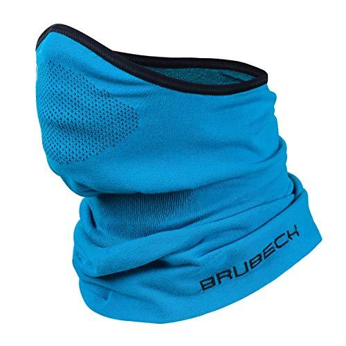 Brubeck X-Pro Halbe Sturmhaube | Herren | Damen | Klimaregulierend | Gesichtsmaske | Sturmmaske | Funktionskleidung | Atmungsaktiv | KM10430, Größen:S - M, Farbe: Blau