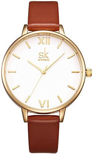 SK Damen Armbanduhr Leder Rufous K0056