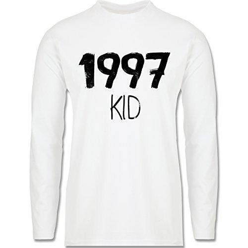Geburtstag - 1997 KID - Longsleeve / langärmeliges T-Shirt für Herren Weiß