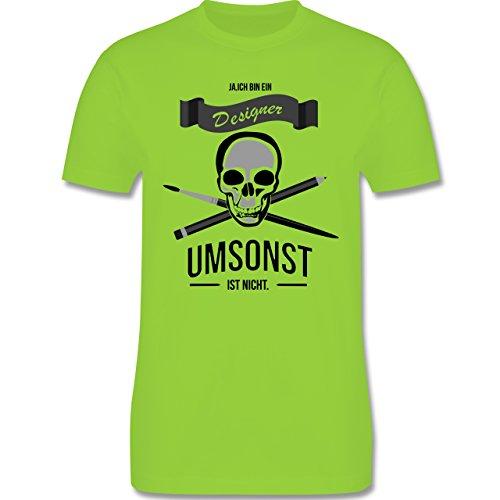 Designer - Designer Umsonst ist nicht - Herren Premium T-Shirt Hellgrün