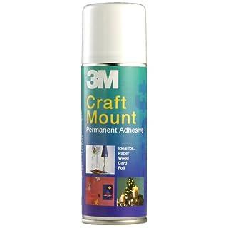 3M CraftMount YP208060159 Spray Permanent Adhesive - 200 ml,transparent