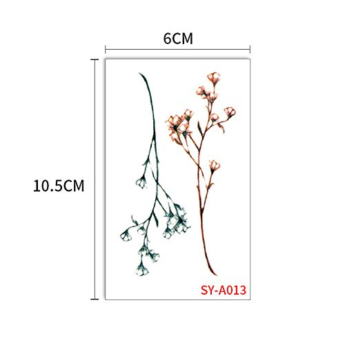 Tattoo Aufkleber Kreative Korea Harajuku Han Feng Pflaume Blume Aufkleber 5Pcs-13 60x105mm