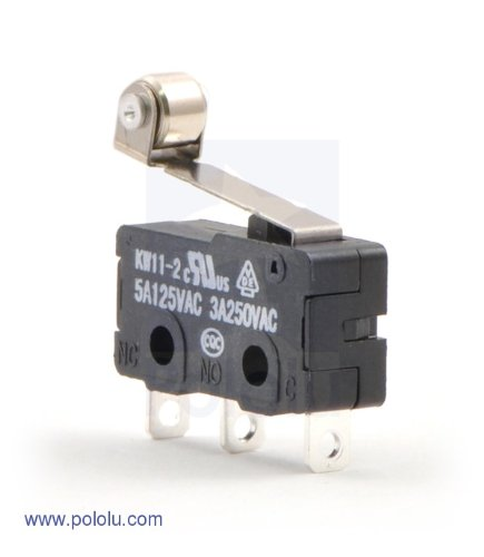 Snap-Action Switch mit 16.3mm Rollenhebel: 3-Pin, Wechsler, 5A - Snap-action Switch