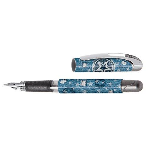 Online 12257/3D - Linkshänder-Füller Lefty College, 1 Stück, blau star