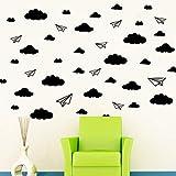 serliy DIY Flugzeugwolken wandaufkleber wandtattoo wandsticker Baum Selbstklebende Fliese Aufkleber Küche Badezimmer Persönlichkeit kinderzimmer Dekorative wandsprüche Wandgemälde