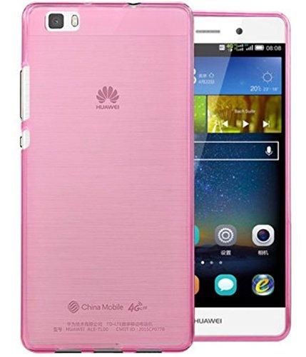 Prevoa ® 丨Huawei P8 Lite Funda - Transparent Silicona TPU Funda Cover Case para Huawei P8 Lite 5.0 Pulgadas Android Smartphone - Rosa