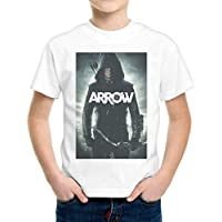 T-Shirt Bambino Ragazzo Arrow Freccia Verde Serie Tv