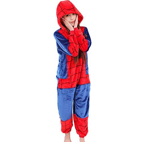 Cool&D Pyjama Schlafanzug Onesie Jumpsuits Hausanzug Flanell Kostüme mit Schuhe für Herren Damen ()