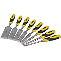 Stanley 2-16-887 Dynagrip Chisel-Set 10-20 mm Set of 3 Pieces Yellow//Black