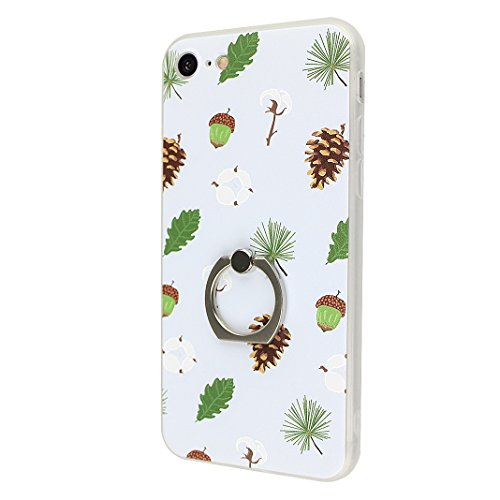 Coque iPhone 7, Moon mood 2in1 Hybrid Cover avec 360 Degree Rotating Grip Finger Ring Case Bling Gliter Sparkle Briller Coque [PP Détachable Bling Paper] pour iPhone 7 Paillette Anti Choc Housse Etui  Style-2