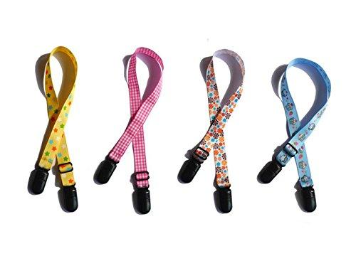 4 bunte verstellbare Serviettenklammern, für ältere Menschen / Erwachsene, Baby/Kleinkinder, Lätzchen-Verschluss, Umhängeband für Handtuch, Schürze, Decke, Reise-Outdoor, Must-Haves (Farbe zufällig)
