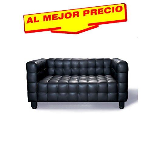 SOFA 2 PLAZAS DE DISEÑO MODELO MILTON TAPIZADO SIMILPIEL NEGRA- ESPECIAL SOFA 2 PLAZAS-¡AL MEJOR PRECIO!