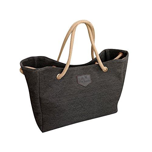 Kinashi Einkaufstasche aus Segeltuch 32x 28x 11cm schwarz (Bourke Cross Body)