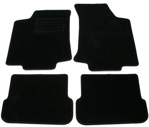 AD Tuning GmbH HG2589 Velours Passform Fußmatten Set Schwarz Autoteppiche Teppiche Carpet floor mats Teppiche Mat