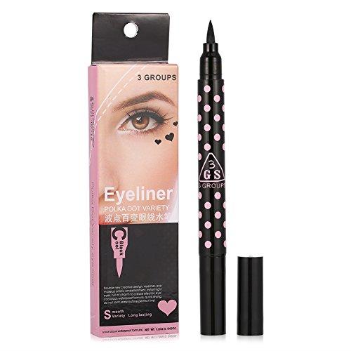 Eyeliner Stamp Pencil, Asixx 2 Tipi Eyeliner liquido a doppia testa Stick progettato per la bellezza pigra o il nuovo discente, impermeabile e di lunga durata, senza sbavature e naturali (Heart)
