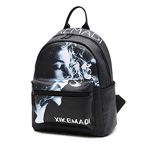 ucksack, Nichtraucher Bedrucktes College Ipad Bookbag Reiserucksack Personalisiertes Gepäck,Black,24 * 13 * 28cm ()
