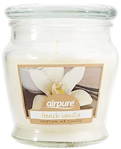 Airpure Venetian Large 10oz Jar Scented Candles Candle (French Vanilla)