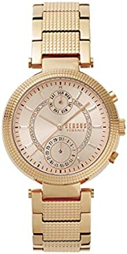 Versus by Versace Women's Star Ferry Beige Dial Stainless Steel Analog Watch - S7909