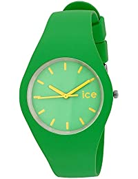 ICE-Watch - Montre Mixte - Quartz Analogique - ICE - Green yellow - Unisex - Cadran Vert - Bracelet Silicone Vert - ICE.GN.U.S.12