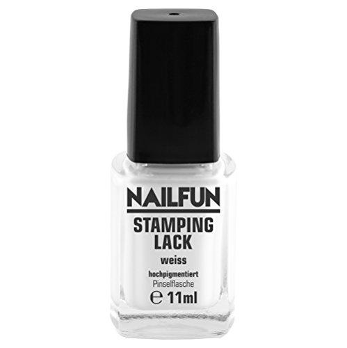 Stamping Lack Nagellack Weiss White 10ml Stampinglack