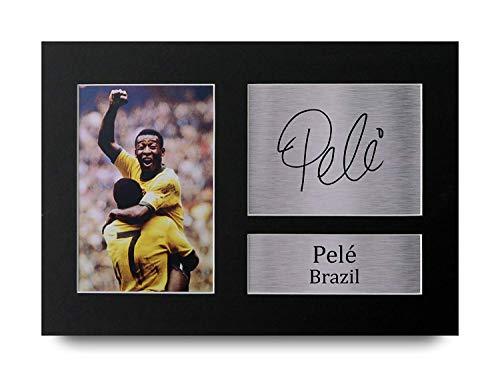 HWC Trading Pele Geschenke Unterzeichneten A4 Gedrucktes Autogramm Brazil Druck-Foto-Bilderanzeige