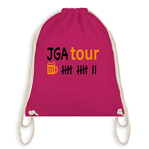 JGA Junggesellenabschied - JGA Tour - Turnbeutel I Gym Bag Fuchsia