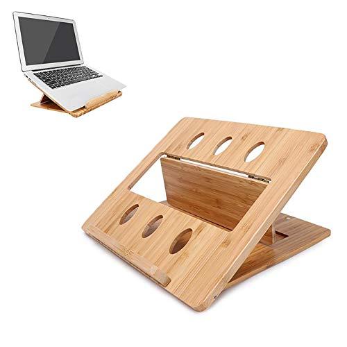 GIRISR Laptopständer Faltbare Einstellbare Laptop Original Bamboo Tablet Computer Kühlhalterung -