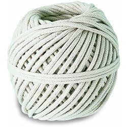 Chapuis CTV3 Cuerda de algodón trenzado - 32 kg - Diámetro 3 mm - Largo 24 m