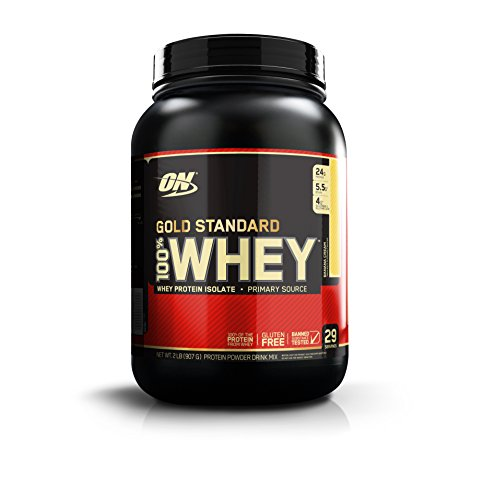 Optimum Supplemento Nutrizionale Whey Gold Std, Banana, 2 lbs Multi-Lingual - 907 gr