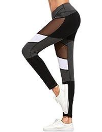 499add24b0cd6d Leggings Damen Kolylong® Frauen Stretchy Hohe Taille Yoga Fitness Leggings  Elegant Mesh Sport Hosen Jogginghose