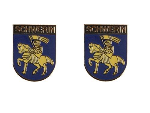 Yantec Wappenpin 2er Pack Schwerin 20 mm Pin Anstecknadel