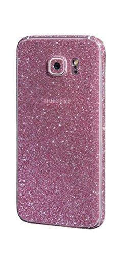 FINOO ® | Glitzer Sticker Bling Body Komplett Folie Vorder- und Rückseite Displayschutz für SAMSUNG GALAXY S6 Pink