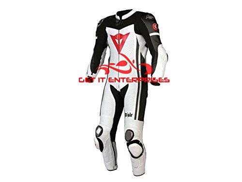 Motorrad Racing Leder Anzug Replica von Gie, weiß (Herren Valentino Anzüge)
