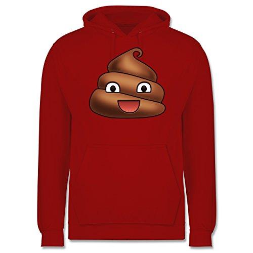 Statement Shirts - Kackhäufchen Emoji - Männer Premium Kapuzenpullover / Hoodie Rot