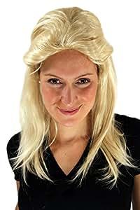 Perruque mixte, blonde, style nuque longue/à l'allemande, idéal pour Carnaval. Nouveau!