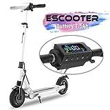 COLORWAY Trottinette électrique S1, patinette Pliable pour Enfant et Adulte Robuste avec LED et Roue 8.5 Pouces (Noir)