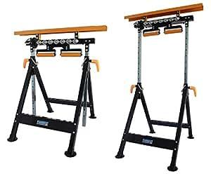 werkbank h henverstellbar rollenbock klappbock v rollen klappbar 200 kg werktisch 4 in 1 amazon. Black Bedroom Furniture Sets. Home Design Ideas