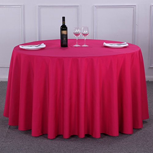 BSNOWF- Nappes Style européen Restaurant Meeting Wedding Hotel Nappe ronde Plus épais Couleur solide Taille facultative ( Couleur : A , taille : Round-340cm )