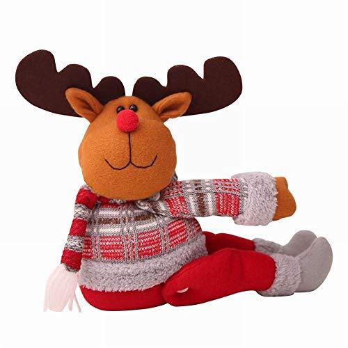Semine serie di natale tenda fibbia, babbo natale pupazzo di neve alce bambola finestra decorativa gancio casa