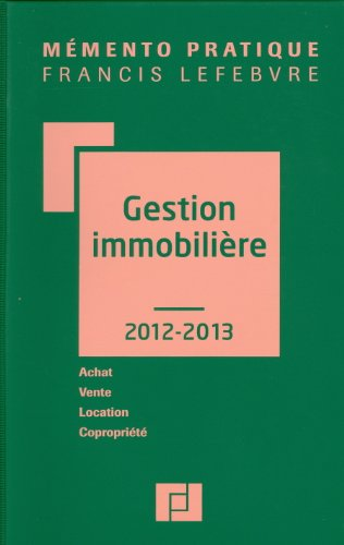 MEMENTO GESTION IMMOBILIERE 2012-2013