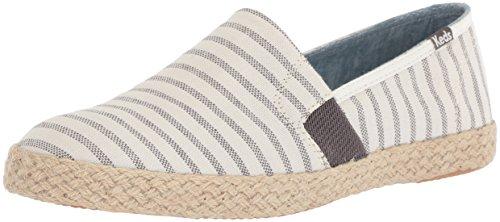 Keds Women's Chillax A-Line Stripe Jute Espadrilles Beige in Size 41 M Keds Slip On Sneakers