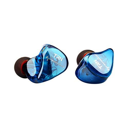 Bluetooth Kopfhore EarHIFI Acht-Einheiten-Ringeisen-Kopfhörer Telefon-Subwoofer, verkabelt, ohne Mikrofon(ohne Weizen) (Blau)