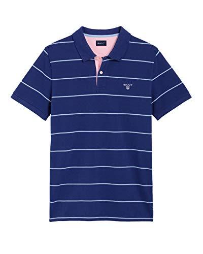 GANT 3-col Pique Rugger Polo Shirt Large College Blue -