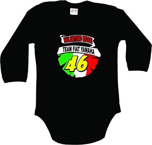 Team FIAT Yamaha Valentino Rossi Moto GP Motocicleta Traje Body Bebe M