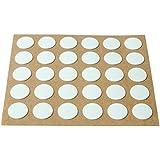 Brinox B77900B - Embellecedor cubre-tornillos adhesivo, color blanco